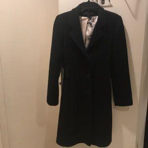 Via spiga black coat size 8